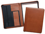 Leather Zippered Pad Holder